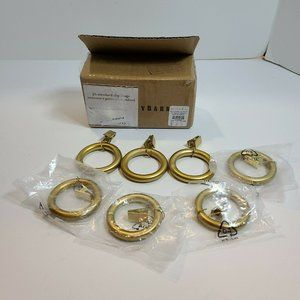 Pottery Barn Brass Sm Standard Curtain Clip Rings